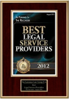 Best Legal Service Providers - Recognition 2012